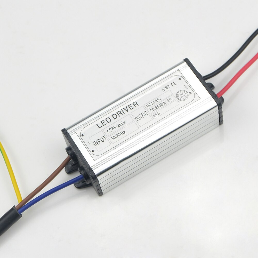20W LED Driver 600mA AC 100V-265V to DC 24V-38V Power Supply For LED Lamp Bulbs Floodlight Chip Lawn Lighting Transformer