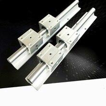 2 stks SBR16 1100mm ondersteuning rail lineaire gids + 4 stks SBR16UU lineaire blokken beairng voor CNC router lineaire gids