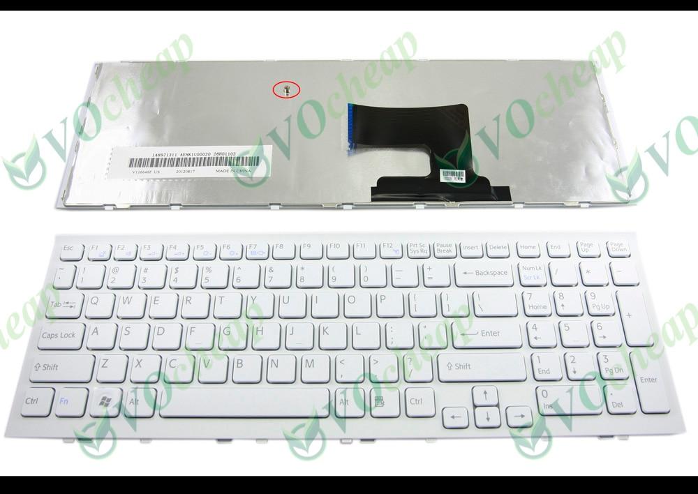 لوحة مفاتيح الكمبيوتر المحمول الجديد في الولايات المتحدة لسوني Vaio VPC-EH VPCEH PCG-71911L -71912L -71913L -71914L -71811L -71811M White