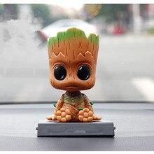 Gardiens sont galaxie Mini secousse tête arbre bébé Groot modèle mode cadeau décoratif jouet héros modèle secouant tête voiture accessoires
