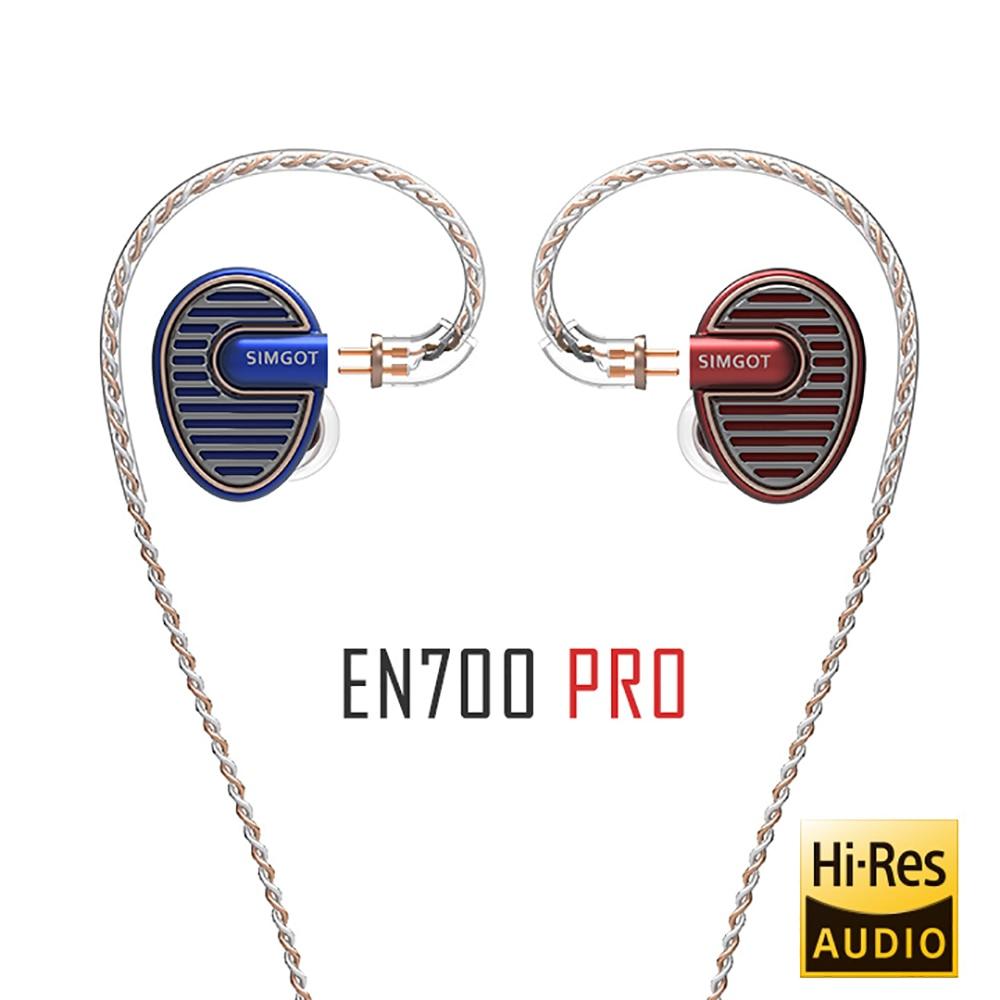 SIMGOT EN700 برو ترقية مرحبا الدقة الديناميكي باس HiFi الموسيقى رصد DJ سماعة في الأذن ياربود مع كابل dechabel Fone دي Oudivo