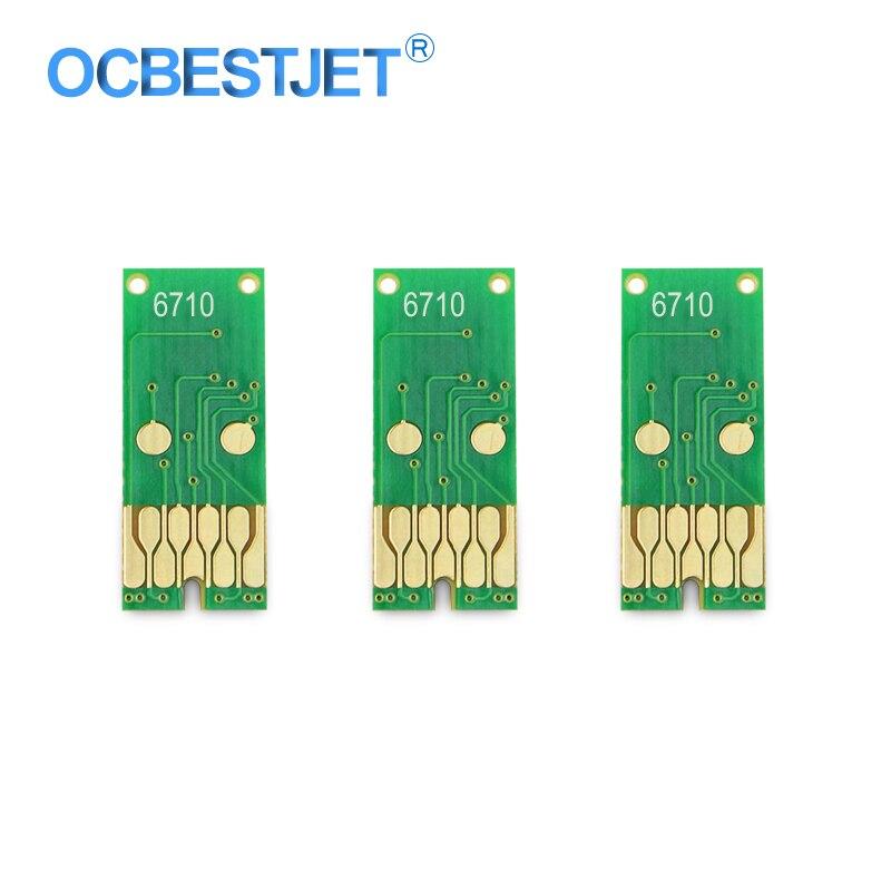 3 piezas T6710 residuos tinta depósito de mantenimiento Chip para Epson Pro WF-5190 WF-5690 WF-4630 WF-5110 WF-5620 WP-4010 WP-4520