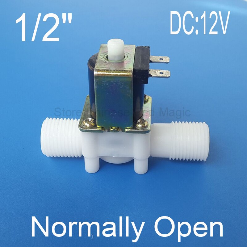 Normally Open Type 1/2'' Solenoid Valve Electric Magnetic N/O Water Control Diverter DC12V DC24V Optional