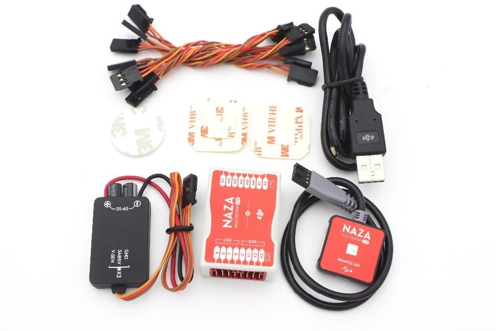 DJI-مجموعة نظام التحكم في الطيران للطائرة بدون طيار ، نظام التحكم في الطيران متعدد الدوار ، وحدة LED لكاميرا RC Quadcopter ، FPV مع كابل
