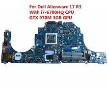 Dell alienware 17 r3 노트북 마더 보드 ddr4 LA-C912P CN-0DVV6W 0dvv6w dvv6w i7-6700HQ cpu gtx 970 m 3 gb gpu
