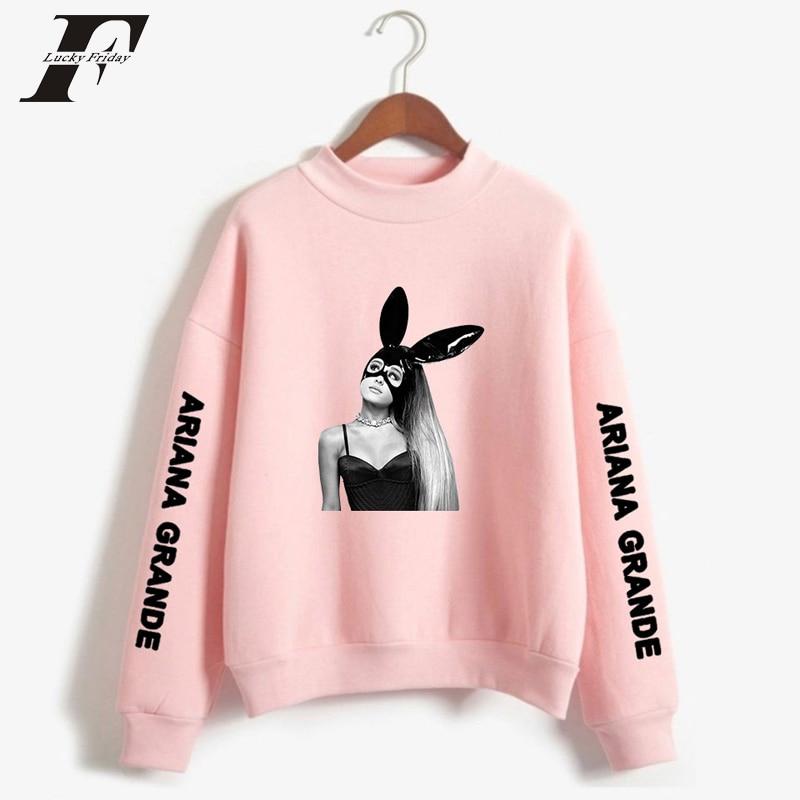 2019 Ariana Grande Oversize Turtlenecks Sudadera con capucha mujer streetwear Ariana Grande hoodie moda invierno/otoño ropa