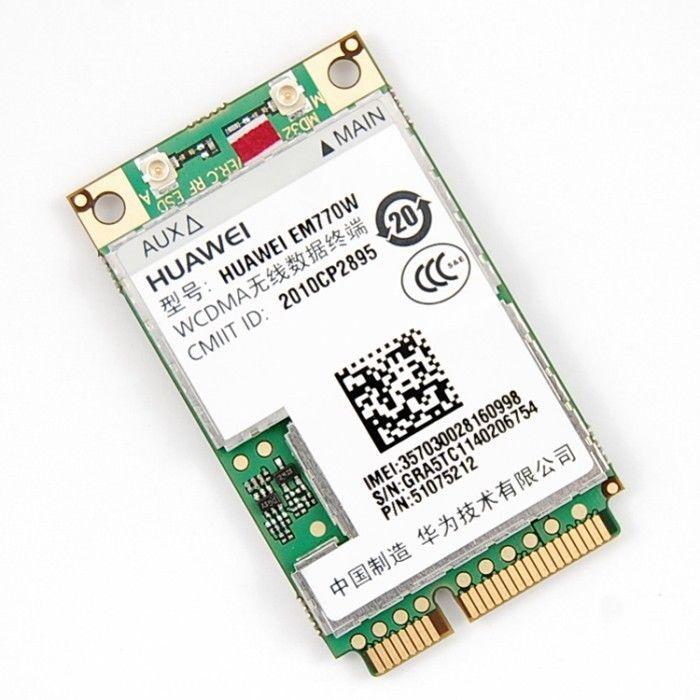 novo modulo de cartao em770w 3g 72mbps desbloqueado wcdma hsdpa mini pci e