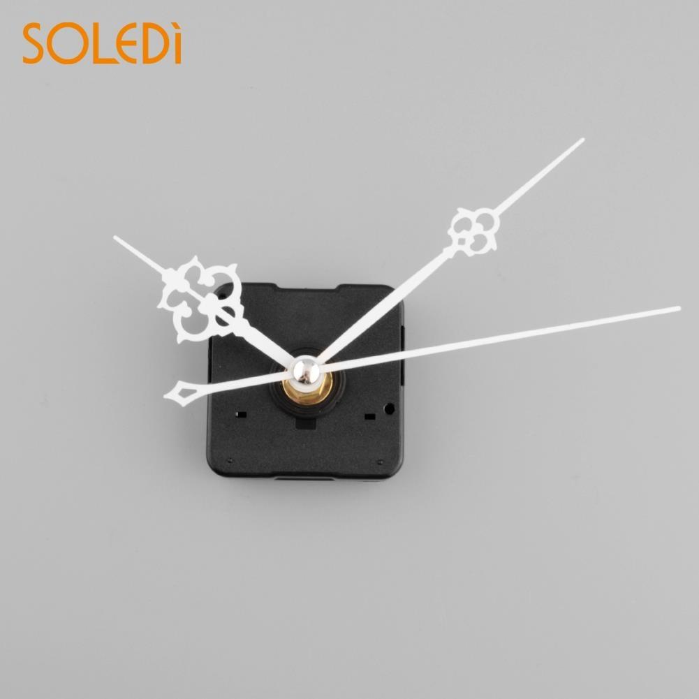 SOLEDI 1 stücke Uhr Quarz Bewegung Mechanismus Weiß Hand Ersatz Teil Reparatur Kit Hause Wand aufkleber Wand Aufkleber Wanduhren
