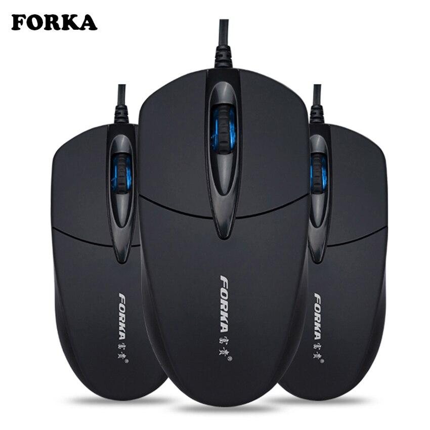FORKA Silent Click USB Проводная компьютерная эргономичная мышь, бесшумная компьютерная игровая мышь для ПК, ноутбука, ноутбука, офиса, аксессуары