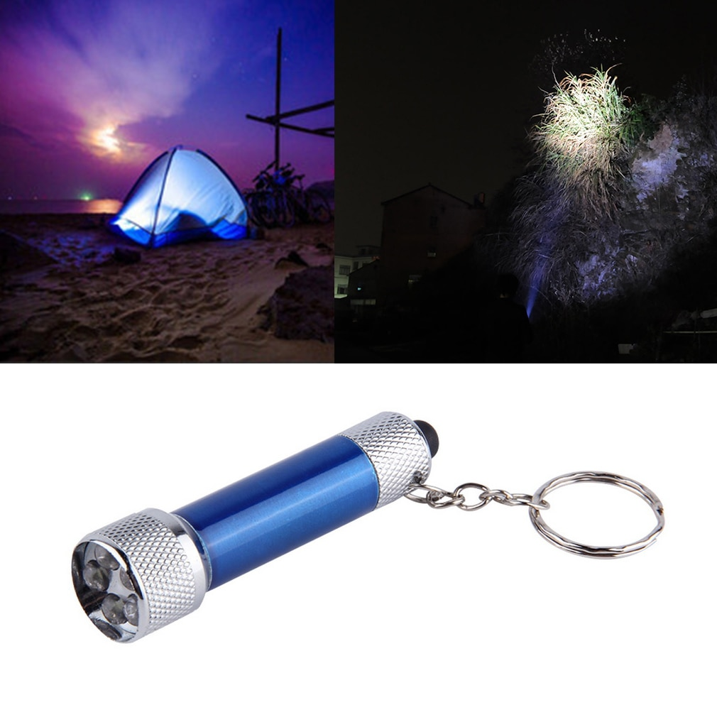 New Hot Portable 5 LED Mini Flashlight Light Torch Aluminum Keychain KeyRing Chain
