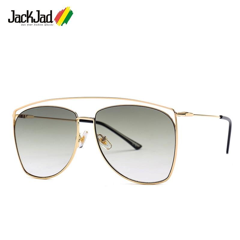 JackJad 2019 moda hueco De aviación Metal estilo De gafas De Sol, hombres De diseño De marca, gafas De Sol, gafas De Sol 25014