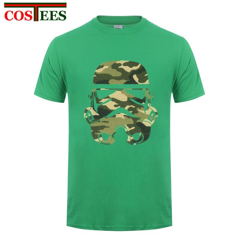 Camiseta de hombre 2017 Stormtrooper Tropical Star Wars, camisetas de camuflaje para hombre, camiseta, pijama, hombre, estampado creativo, ropa barata china