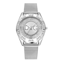 luxury watches for Women brands DQG Women Crystal Silver stainless steel Quartz Watch Lady Outdoor S