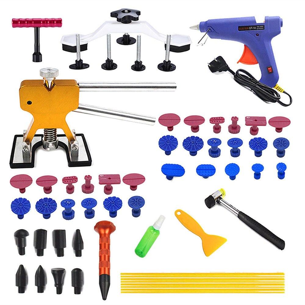 PDR Инструменты для ремонта автомобиля вмятины для ремонта кузова автомобиля инструмент лучший инструмент для ремонта Съемник присоски клеевой пистолет 41 шт./лот
