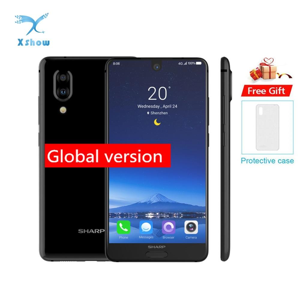 Original SHARP AQUOS C10 S2 Smartphone 4GB+64GB face ID 5.5'' FHD+Snapdragon630 Octa Core Android 8.0 12MP 2700mAh mobile phone