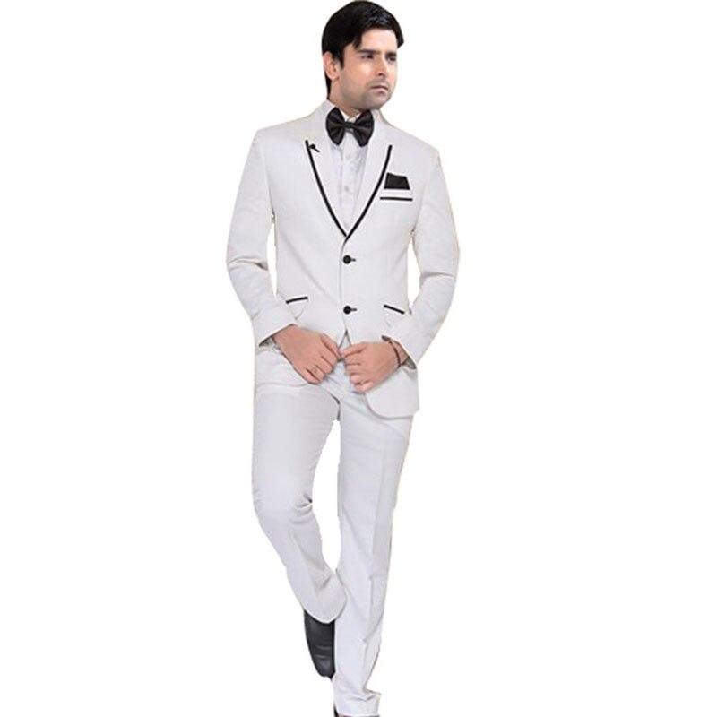 Esmoquin de novio de dos botones, tres bolsillos, Formal, personalizado, para boda, traje de cena, ropa para hombre 2020 (chaqueta, pantalones y pajarita)