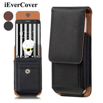 Premium Vertical Leather Case Holster Cover w/ Swivel Belt Clip for Alcatel PoP 4S 4+ iDol 4s 4 OneTouch Fierce XL(Windows)