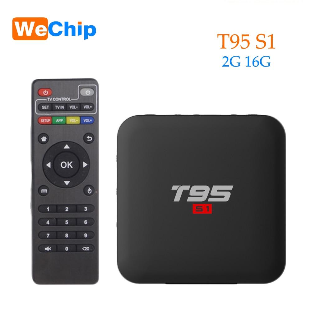 Smart Android 7,1 TV Box 2 Гб 16 Гб H.264 HD медиаплеер T95 S1 2,4G Wifi беспроводной Amlogic S905W четырехъядерный PK X96 mini tx3 mini