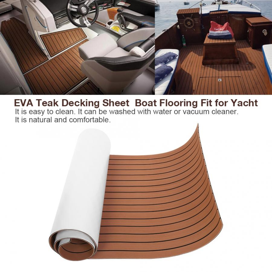En el extranjero, hoja de revestimiento de teca EVA, suelo de barco apto para yate, accesorios de barco marino