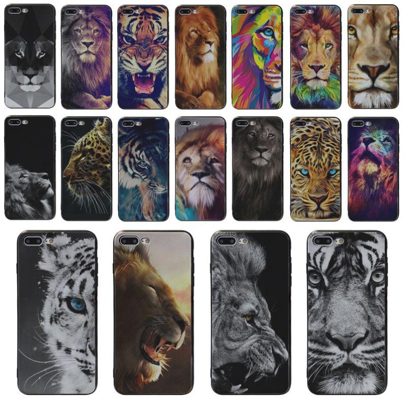 Yinuoda Ultra delgado teléfono caso tigre león diseño para iphone SE S5 X XS X XR XSMAX 6 6s 7 7plus 8 8 X phome caso