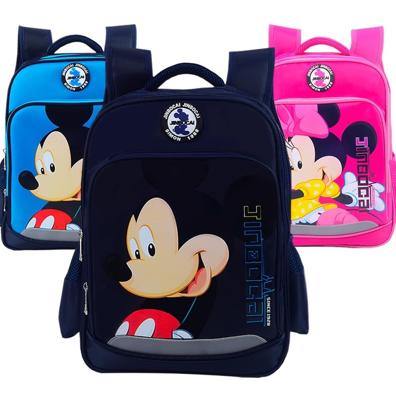 Mochila de dibujos animados Minnie para niña, mochila de Mickey para niño, mochila escolar ortopédica impermeable, mochilas para niños