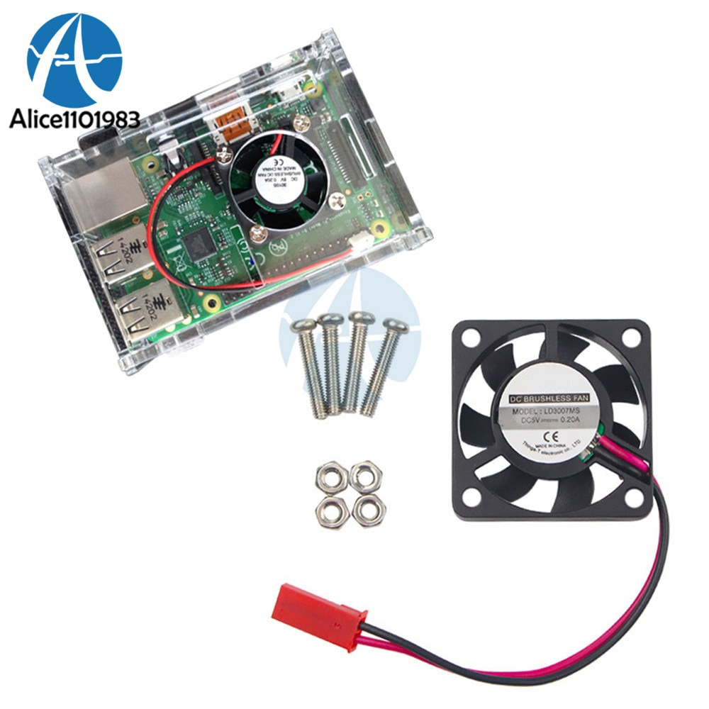 Охлаждающий вентилятор для Raspberry Pi Model B + / Raspberry Pi 2/3 S Raspberry Pi A + 2 Pin, 5 В, 2 А