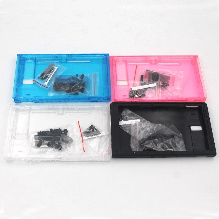 Caso da placa dianteira da substituição para nintend interruptor duro habitação caso escudo peça da placa dianteira para nintend switch console com parafuso peças