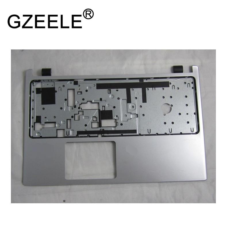 GZEELE portátil nuevo superior de la cubierta de la caja para ACER Aspire V5-531 V5-531G V5-571 V5-571G Palmrest no-touch bisel teclado de plata