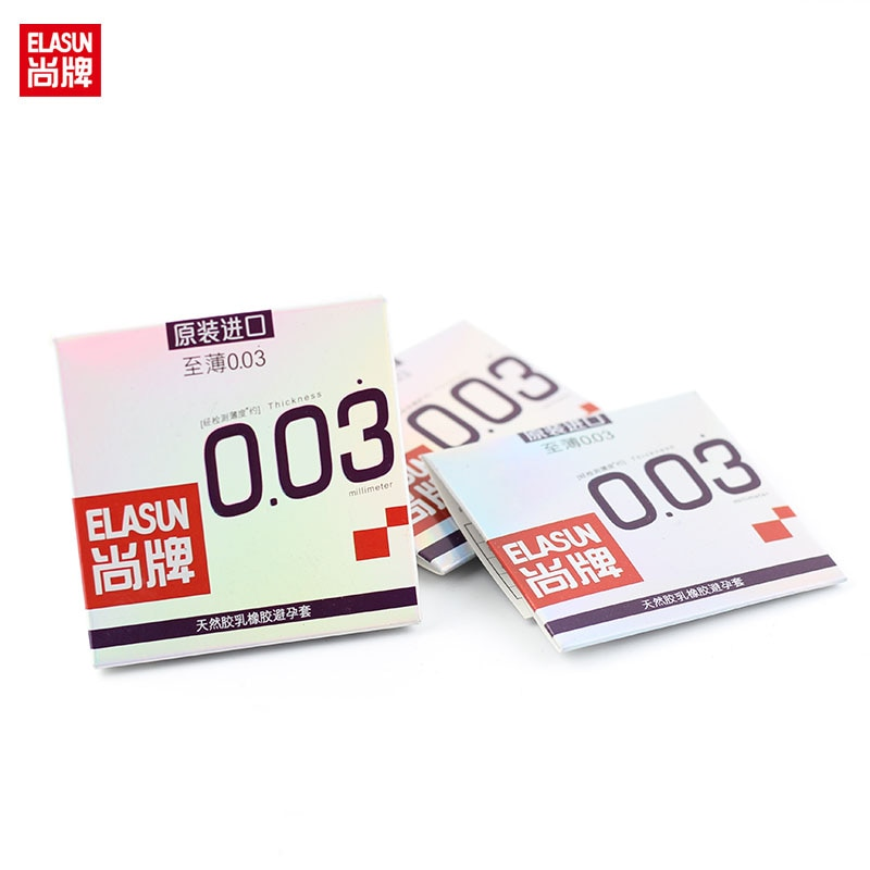Elasun 3PCS/Pack 0.03 mm Platinum Ultra-thin Condom Ultra Thin Condom, super thin condom