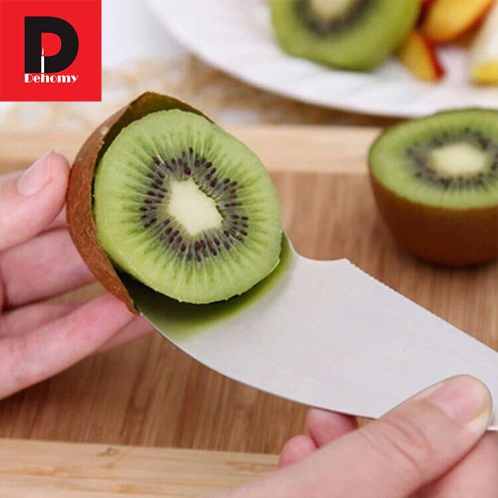 Dehomy, cortadora de fruta Manual, cuchara para excavar, cuchillo, aguacate, Kiwi, cuchara para pelar, cortador multifunción de fruta, cuchara para pulpa, herramienta de tallado de cocina