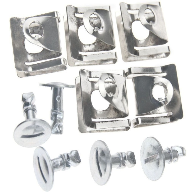 60pcs  Engine Protection Pan Hardware Kit Pin Clip Nut For Audi A4 A6 VW Passat