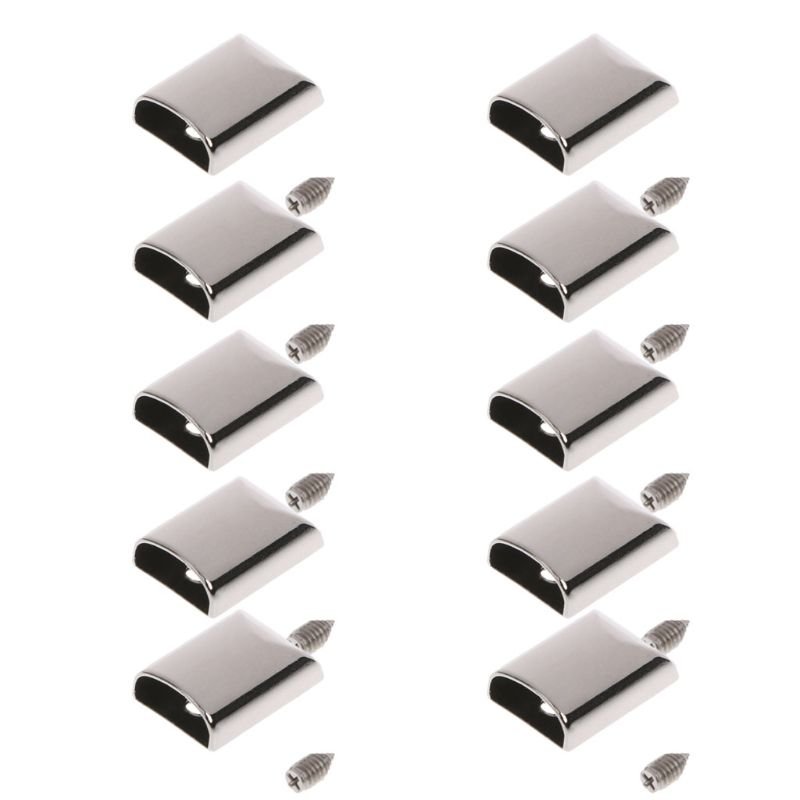 10pcs Leather Craft DIY Metal Zipper Tail Clips Buckle Stop Tail Plug Head Tool Fastener with Screws Bag AccessoriesNew