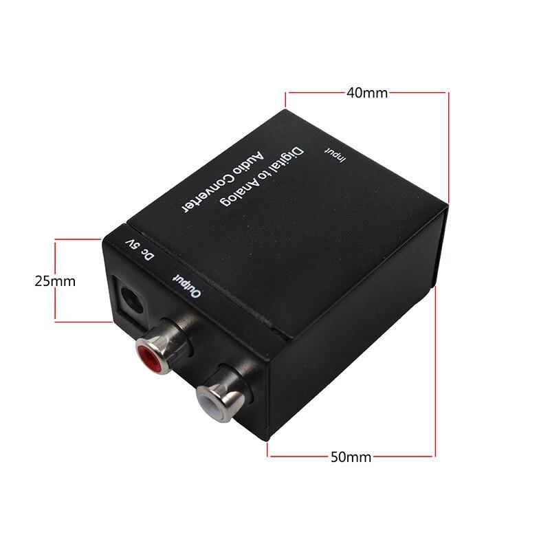 Decodificador Digital DAC a convertidor de Audio analógico para TV, adaptador Jack 2 * amplificador de RCA