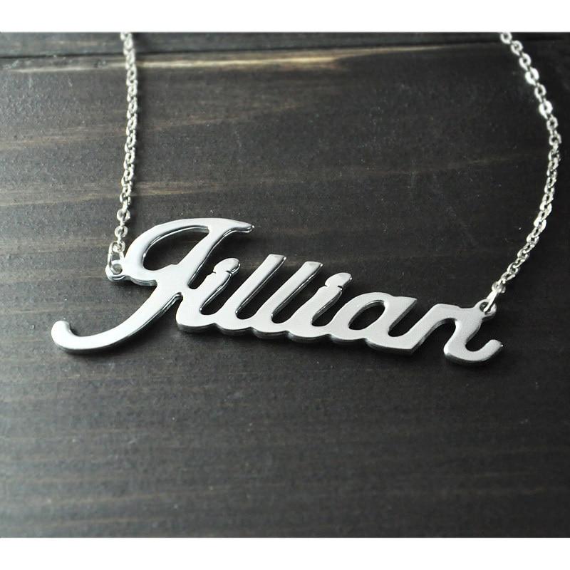 Jede Personalisierte Name Halskette legierung anhänger Alison schrift faszinierende anhänger custom name halskette Personalisierte halskette