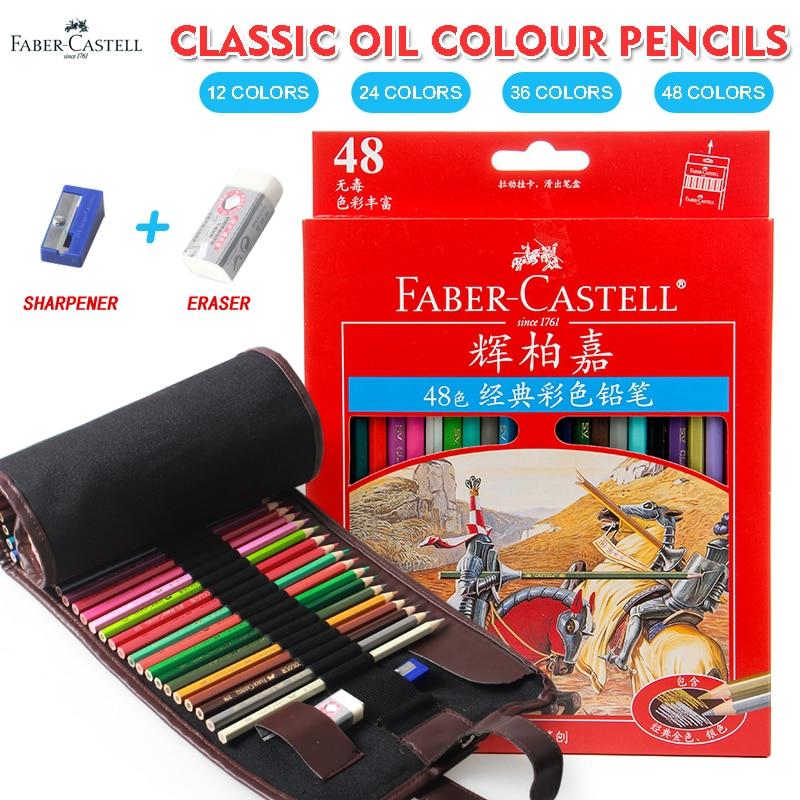 Faber Castell 48 Colors Classic Colored Pencils Lapis De Cor Professionals Artist Painting Oil Color Pencil For Drawing Sketch