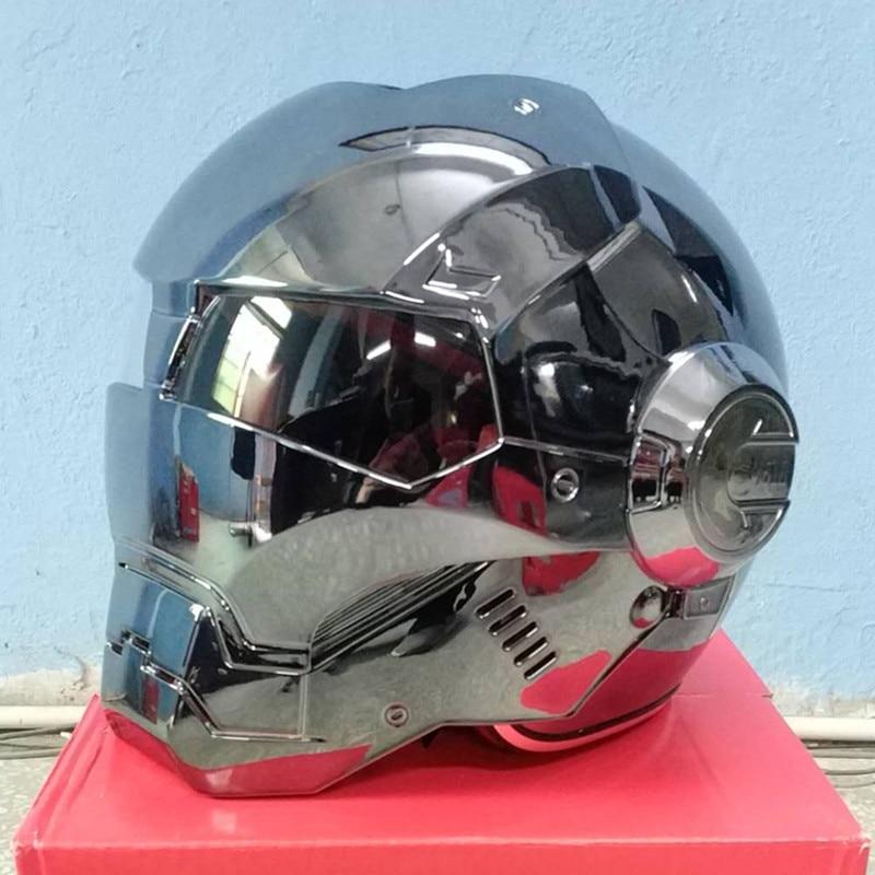 Masei bike scooter moto electroplate gray iron man helmet motorcycle helmet half helmet open face helmet casque motocross