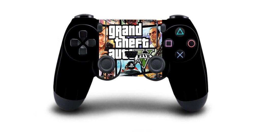 1 stücke Grand Theft Auto V GTA 5 PS4 Haut Aufkleber Aufkleber Vinyl Für Sony PS4 PlayStation 4 Dualshock 4 controller Haut Aufkleber