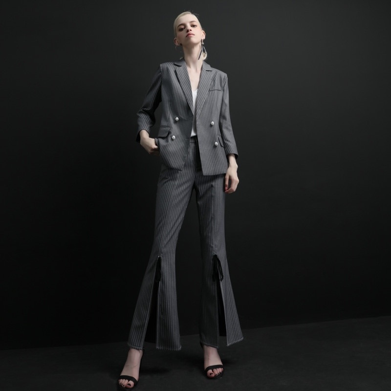 High quality women suits pants suit  Women's Office Lady Two Pieces Sets female autumn new casual jacket trousers elegant