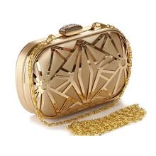 Luxury Women Rhinestone Evening bag Clutch Handbags Lady Hollow crystal evening handbag bolsos mujer