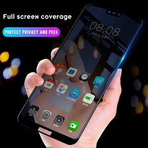 Anti Spy Tempered Glass For Huawei Honor 8X 10 View 20 V20 Nova 4e Y9 2019 P30 P20 Lite Mate 20 10 Pro Privacy Screen Protector
