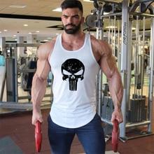 Marque vêtements Fitness Stringer débardeur hommes Stringer crâne musculation chemise musculaire gilet dentraînement gymnases maillot de corps Singlet