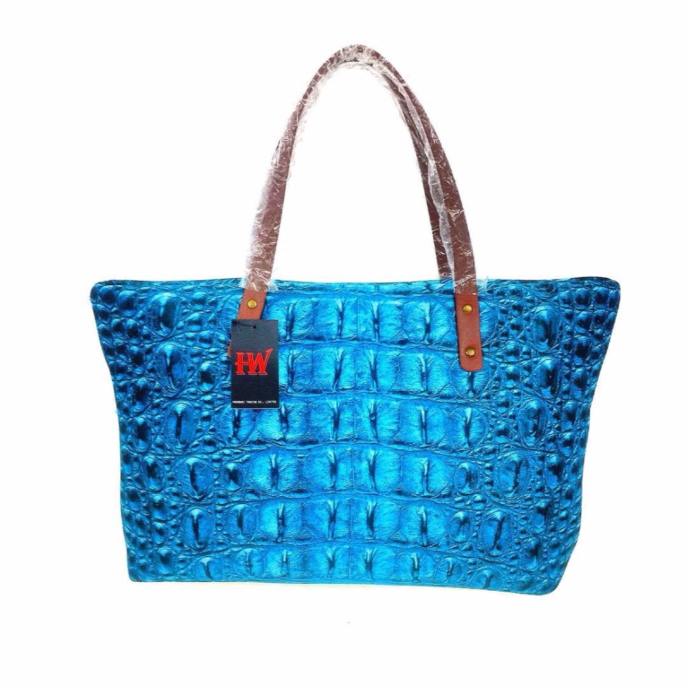 Bolsos impresos 3D con diseño de cocodrilo, bolsos de lujo para mujer, bolsos de diseñador para mujer, bolso de hombro, Bolsa lateral material de neopreno