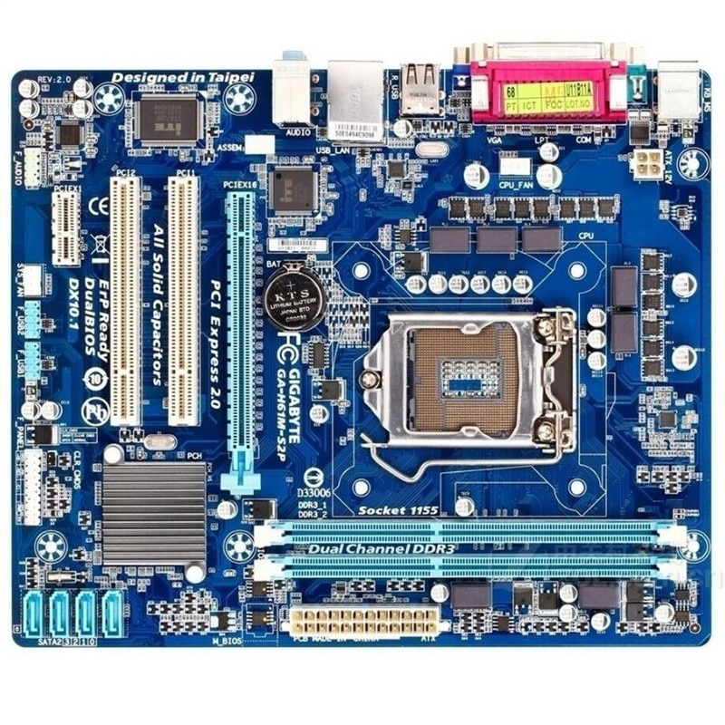 Original Gigabyte GA-H61M-S2P placa base de escritorio H61M-S2P H61 Socket LGA 1155 DDR3 Micro-ATX 100% prueba completamente