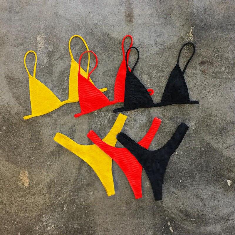 Perizoma Bikini Donne Sexy Costume Da Bagno Inferiore e Superiore Beachwear Brasiliano Biquinis Costume Da Bagno Imbottita traje de bano Mujer Monokini