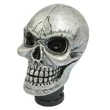 TOYL Metal Skull Head Truck Car Gear Shift Knob + 3 Plastic Connectors