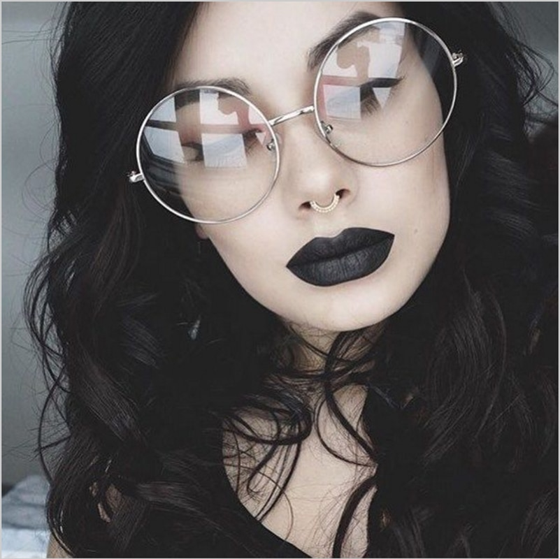 CANCHANGE New 2019 Fashion Retro Round Glasses Frame For Women Men Circle Metal Frame Eyeglasses Clear Lens Eye Glasses Unisex