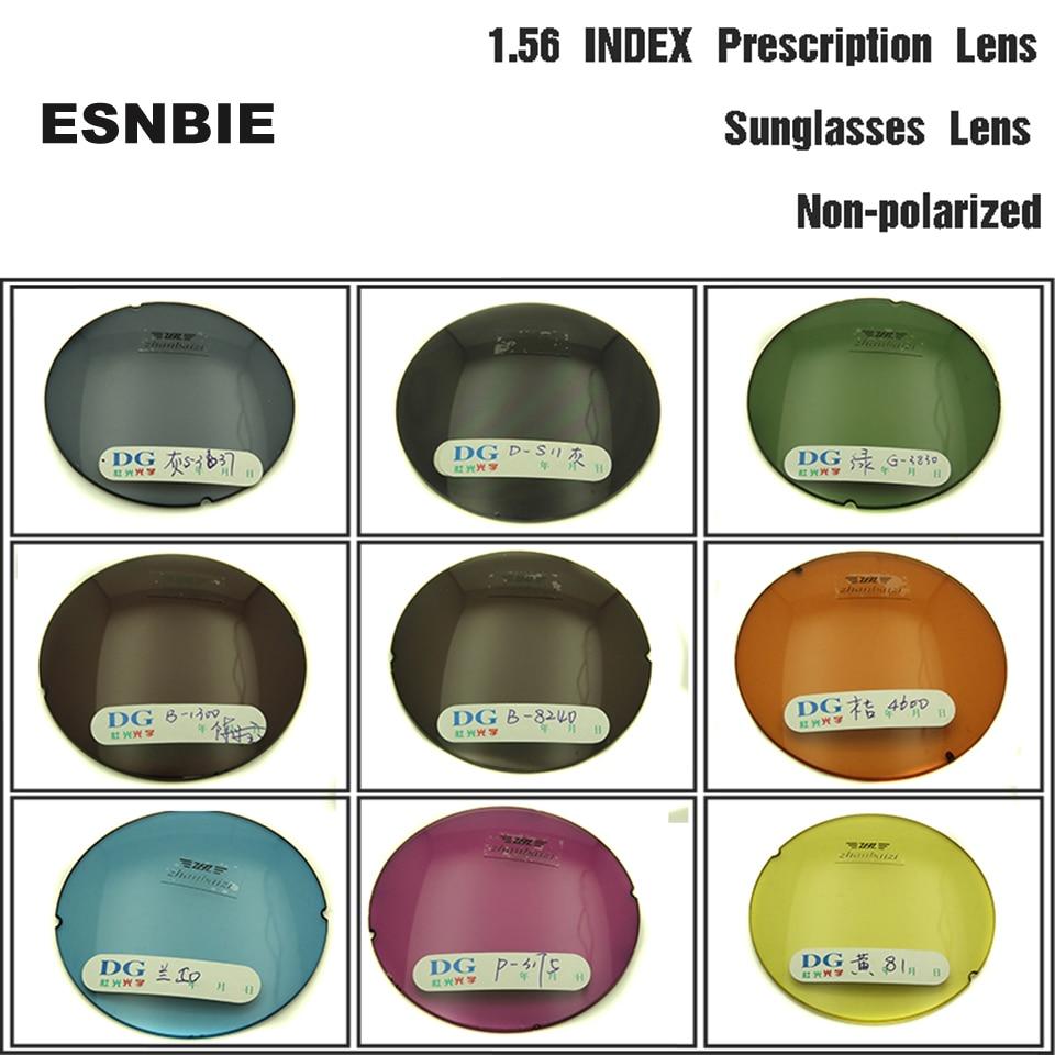ESNBIE-عدسات بصرية ملونة مخصصة ، بوصفة طبية للعيون ، مؤشر 1.56 شبه كروي ، عدسات نظارات ملونة