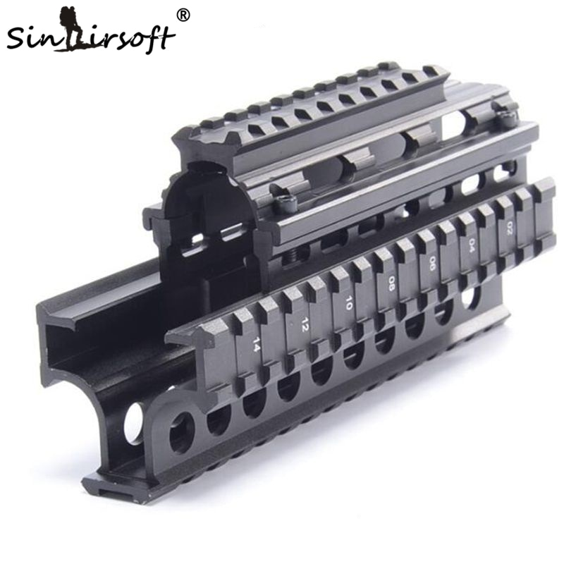 M70 Yugo AK Quad Rail Handguard para Dot Mira A Laser Riflescope Montagem V-corte para Co-testemunha com mira de ferro MTU011