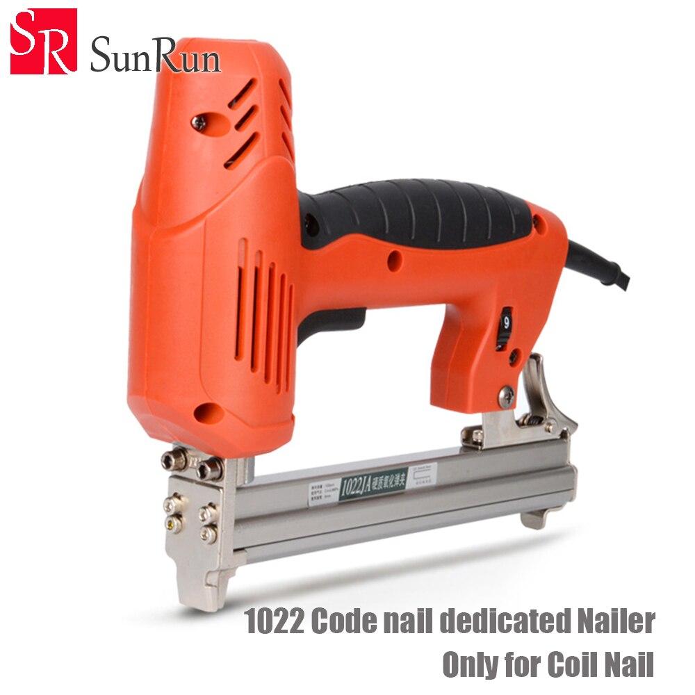 1022 código de uñas dedicado clavadora 1800W 220-240V 30PCS/min clavadora eléctrica pistola grapadora eléctrica Clavo recto herramienta de pistola para madera
