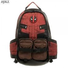 HJKL Deadpool Marvel Comics Super Hero Film Bürgerkrieg Schule Taschen Männer Rucksack Mochila Tasche Rucksäcke schulter feminina bagpack